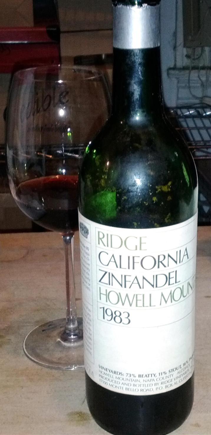 1983 Ridge Howell Mountain