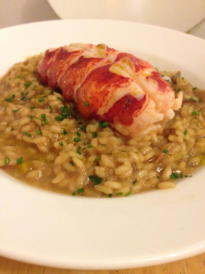 Lobster w/porcini risotto