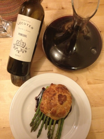 Beef Wellington and Pomerol